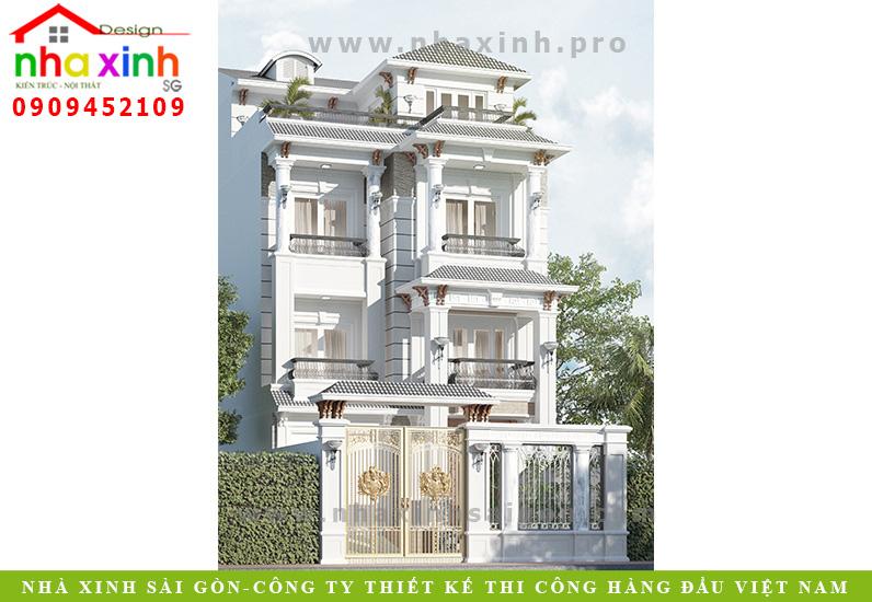 Mẫu Biệt Thự Cổ Điển Đẹp | Cô Hợi | Bình Trưng Tây Quận 2 | BT-154